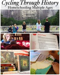 Cycling through history homeschooling multiple ages is a pleasure with great resources. Tapestry of Grace provides the map for your family. Homeschool Supplies, Homeschool Books, Homeschool Curriculum, Homeschooling, Teaching Aids, Teaching History, Tapestry Of Grace, Family History, American History