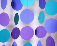 Birthday Party Garland, Violet, Teal Purple, Birthday Decorations, Mother's Day, Bridal Shower, Baby Shower, Purple Party Decor, 10 ft.
