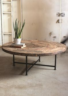 7 Round Coffee Tables For Industrial Homes