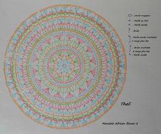 hook african flower mandala - Google zoeken