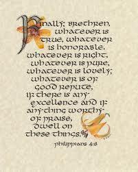 Scripture calligraphy ~ Philippians 4:6