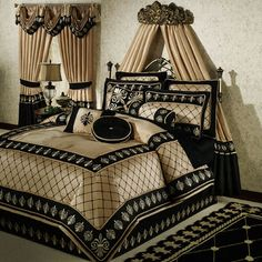 Onyx Empire Comforter Bedding-new house, new look in master bedroom!! Can't wait to see it