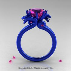 http://www.etsy.com/listing/170485425/modern-dragon-14k-blue-gold-30-ct-pink?ref=related-3