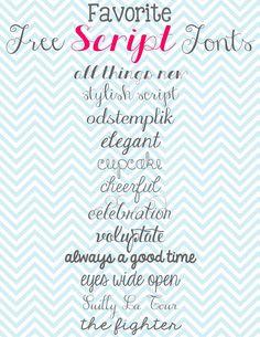 Doodles & Stitches: My Favorite Free Script Fonts