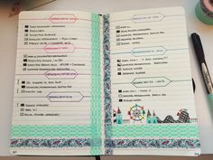 momo-notes:  22/11/15 This week's bullet journal spread  Tried something new with the washi tape