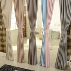 Resultado de imagen para cortina minimalista Curtain Designs, Curtain Ideas, Tulle Curtains, Window Coverings, My Dream Home, Windows, Barcelona, Home Decor, Minimalist Home