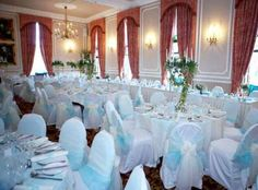 Ringwood Suite Reception - The Ringwood Hall Hotel wedding package includes complimentary floral decorations for your top table and up to 7 individual tables in cream or white and complimentary printed menus.