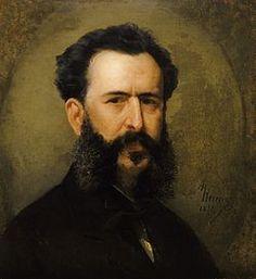 Martín Tovar y Tovar Nació en Caracas 1827 y murió en Caracas 1902 Se destacó en los géneros del retrato y la pintura histórica  Este retrato es del pintor Antonio Herrera Toro Wikipedia