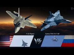 F-22 Raptor Vs Sukhoi PAK FA F-50 HD - YouTube