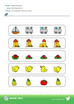 okul öncesi farklı olanı bulma - Google'da Ara