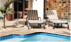 Reclining by the poolside is a must!