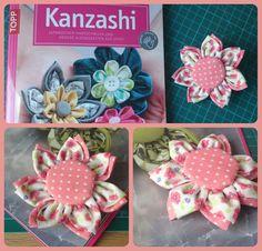 Stoffblüten Brosche