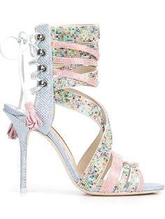 Sophia Webster Swarovski crystal beaded sandals