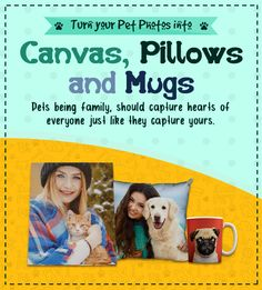 Imprint your Adorable Pet Photos on Canvas, Mug, Pillow and Cheap Canvas Prints, Pet Photos, Photo Pillows, Photo Canvas, Winnie The Pooh, Photo Mugs, Disney Characters, Fictional Characters, Cute Animals