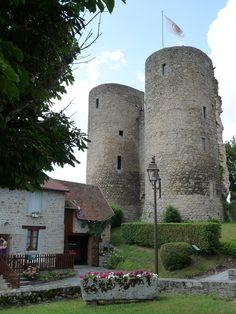 Château fort de Croc,situé sur la commune de Crocq,Creuse, région Limousin,France.