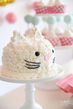 1st Birthday Parties, Birthday Cake, Torte Cake, Animal Cakes, Edible Food, Cat Party, Pet Treats, Party Cakes, Cake Designs