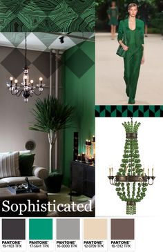 Sophisticated Pantone Emerald Green colour palette.