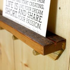 """Display what you love. This hangrail (15""""x 2.25""""x 2"""") is handcrafted from reclaimed wood, made in Michigan and is the perfect addition to your home."""