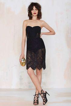 For Love & Lemons Midnight Lace Dress - Black - Going Out | Body-Con | LBD | For Love and Lemons | Lace Dresses