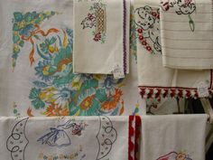 lots and lots of vintage linens