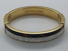 NEW MICHAEL KORS Fashion jewelry MKJ3074 CRYSTAL & TORTOISE GOLD BANGLE BRACELET #MichaelKors #Bangle