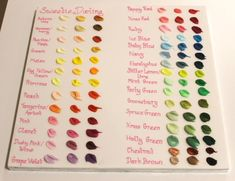 Sweetie Darling Cakes -  A great little colour guide! - I always get asked how the Sugarflair paste colours turn out which is near impossible to explain because it really does depend how much colour you add... So, it took a while but I have made a colour swatch for the Sugarflair colours. Hopefully this will help if you aren't sure which colour to use.