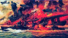 HMS Hermes, el primer portaaviones concebido como tal, comisionado en 1923, 10.900 t, 25 nudos, con una cintura acorazada de hasta 76 mm y capacidad para 20 aviones. Asignado a misiones de lucha antisubmarina a principios del conflicto, pronto parte al Pacífico, donde encontraría su fin. El la madrugada del 9 de Abril de 1942... Más en www.elgrancapitan.org/foro