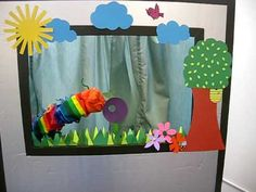 The very hungry caterpillar - YouTube, sock and stick puppets done by a Preschool for Nutrition week!. Easy to do!