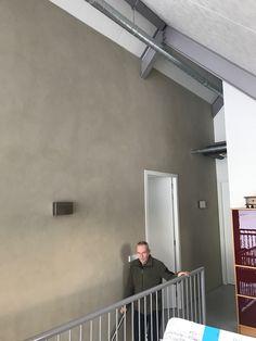 Leemstuc in trappenhuis lofthome Hengelo (gld)