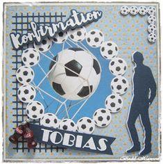 en bestillingskort til en dreng Há en god dag Tobias, Boy Cards, Man Images, Scrapbook Pages, Scrapbooking, Soccer Ball, My Favorite Things, Boys, Men