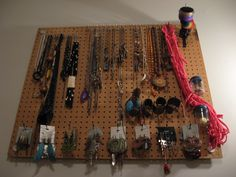 I made my own jewelry board really simply.