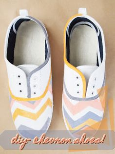 DIY Chevron shoes by Time for Tee