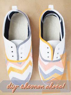 permanent marker Chevron shoes!