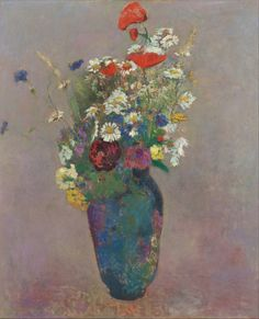 "#Painting ""Vision - vase of flowers"", 1900 by Odilon Redon #Artwork #Art"