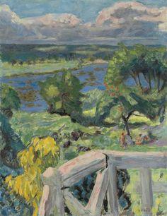 Pierre Bonnard (French, 1867-1947), Coup de soleil (La terrasse de 'Ma roulotte' à Vernonnet), 1916. Oil on canvas, 53 x 41 cm.