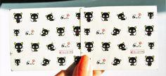 2 Sheets Black Choco Cat water Nail Decal, Kawaii Cat Nail Art, 20 pcs/sheet  | eBay