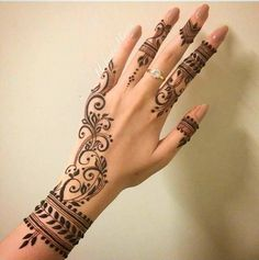 Image result for simple mehndi designs kids 2017
