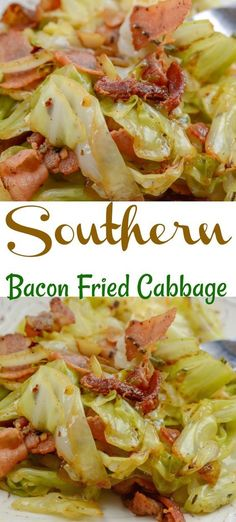 Southern Fried Cabbage and Bacon Yes, you can bake bacon in the oven! For perfec… Southern Fried Cabbage and Bacon Yes, you can bake bacon in the oven! For perfectly crispy oven baked bacon, bake in a oven. Bacon cooks more evenly at a lower temperature Dinner Casserole Recipes, Chicken Casserole, Casserole Dishes, Cabbage Casserole, Taco Casserole, Bacon Recipes For Dinner, Skillet Cabbage Recipe, Turkey Bacon Recipes, Best Cabbage Recipe