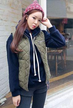 Quilting Vest   Korean Fashion