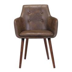 fauteuil vintage pu brun