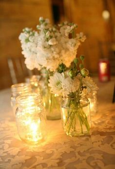 I will never not share mason jar decorations. They're easily accessible, full of potential, and budget friendly!