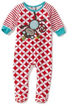Amazon.com: Mud Pie Baby-Boys Newborn Safari Monkey Sleeper Footie: Clothing