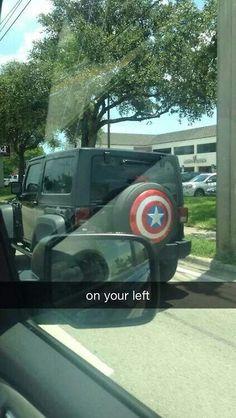 On your left captain america the winter soilder