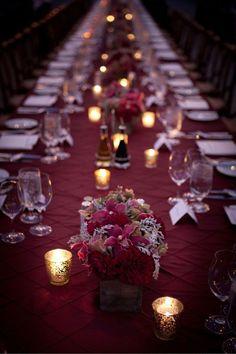 burgundy wedding reception ideas