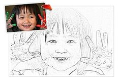 Create a free color page from any photo you have!  Fun rainy day project for kids!