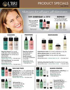You Naturally Beautiful: L'BRI July Product Specials