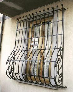 Balcony Grill Design, Window Grill Design, Door Design, Steel Doors And Windows, Iron Windows, Burglar Bars, Window Bars, Window Dressings, House Elevation
