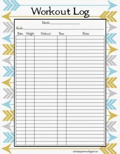 fitness journal templates