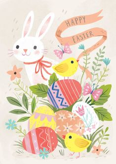 Easter Illustration, Watercolor Illustration, Happy Easter, Easter Bunny, Illustration Inspiration, Easter Drawings, Easter Wallpaper, Easter Traditions, Easter Crafts