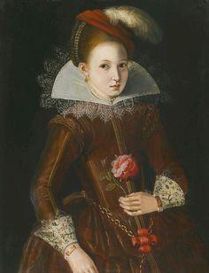Portrait d'une fille, 1600-20